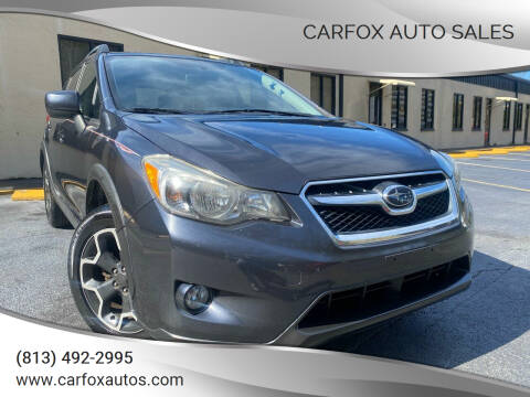 2014 Subaru XV Crosstrek for sale at Carfox Auto Sales in Tampa FL