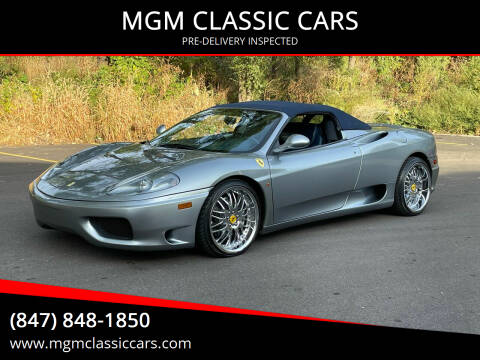 2003 Ferrari 360 Spider for sale at MGM CLASSIC CARS-New Arrivals in Addison IL