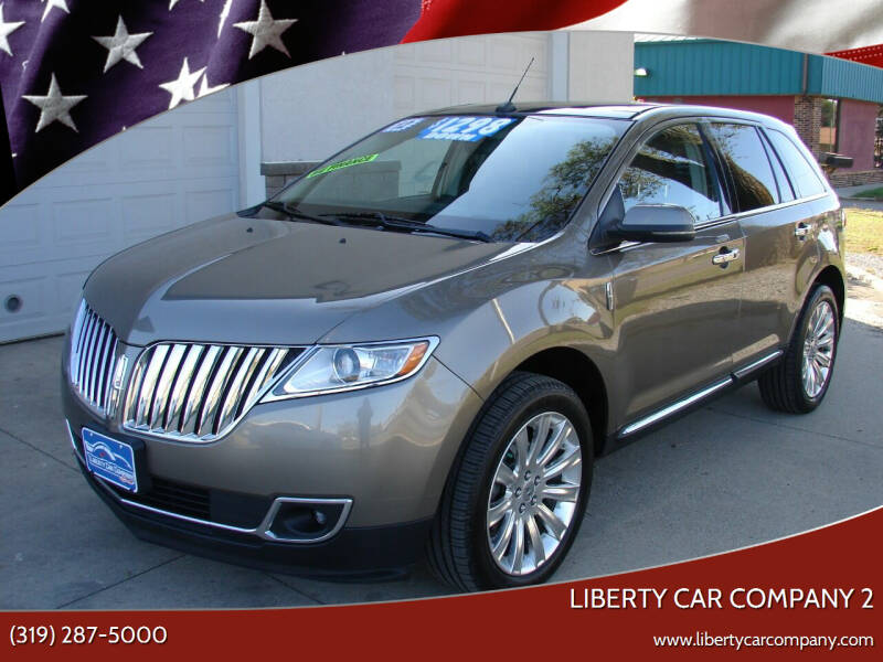 2012 Lincoln MKX for sale at Liberty Car Company - II in Waterloo IA