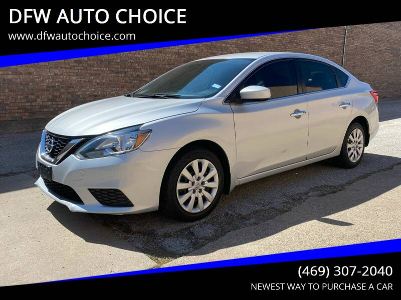 2016 Nissan Sentra for sale at DFW AUTO CHOICE in Dallas TX