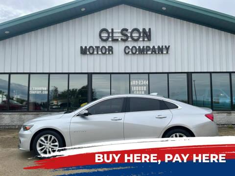 2016 Chevrolet Malibu for sale at Olson Motor Company in Morris MN