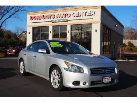 2014 Nissan Maxima for sale at DORMANS AUTO CENTER OF SEEKONK in Seekonk MA