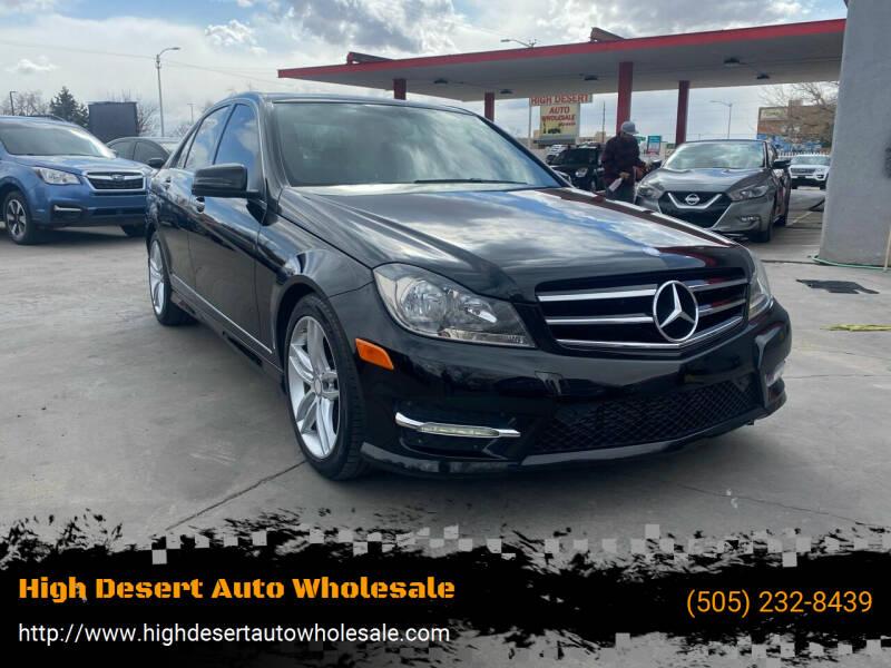 2014 Mercedes-Benz C-Class for sale at High Desert Auto Wholesale in Albuquerque NM