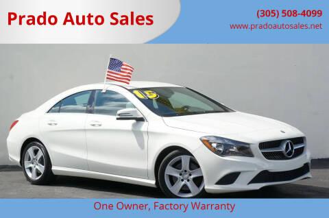 2015 Mercedes-Benz CLA for sale at Prado Auto Sales in Miami FL