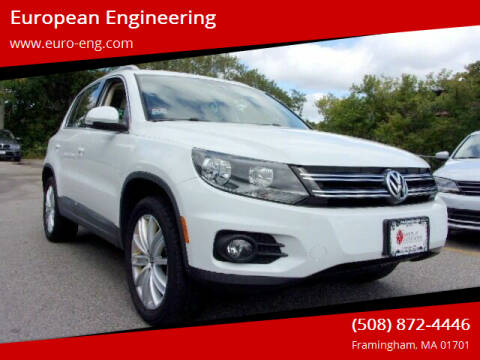 2015 Volkswagen Tiguan for sale at European Engineering in Framingham MA