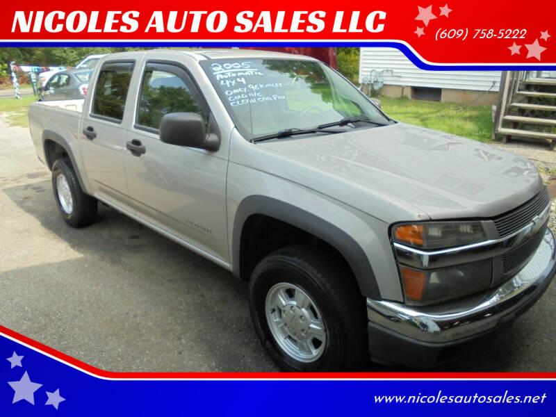 2005 Chevrolet Colorado for sale at NICOLES AUTO SALES LLC in Cream Ridge NJ