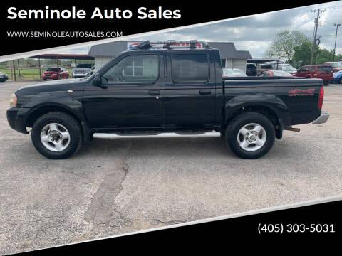 2001 Nissan Frontier for sale at Seminole Auto Sales in Seminole OK