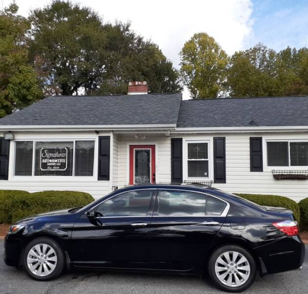 2015 Honda Accord for sale at SIGNATURES AUTOMOTIVE GROUP LLC in Spartanburg SC