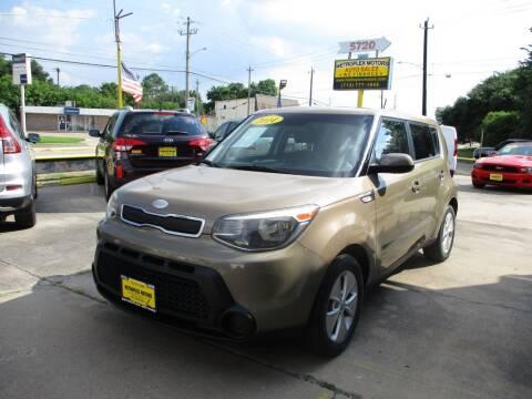 2014 Kia Soul for sale at Metroplex Motors Inc. in Houston TX
