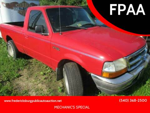 1998 Ford Ranger for sale at FPAA in Fredericksburg VA