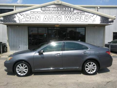 2012 Lexus ES 350 for sale at Don Auto World in Houston TX
