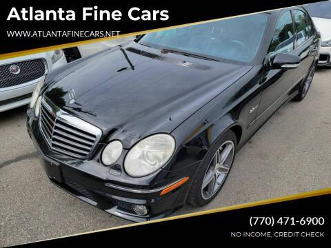 2009 Mercedes-Benz E-Class for sale at Atlanta Fine Cars in Jonesboro GA
