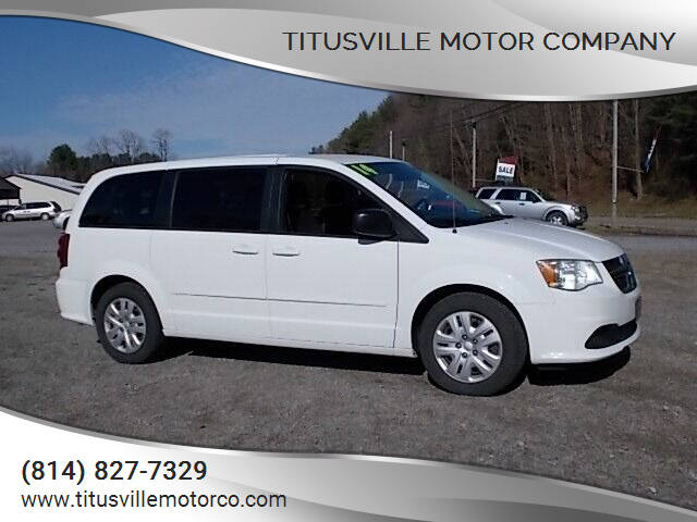 2014 Dodge Grand Caravan for sale at Titusville Motor Company in Titusville PA