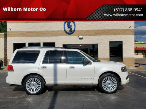 2015 Lincoln Navigator for sale at Wilborn Motor Co in Fort Worth TX