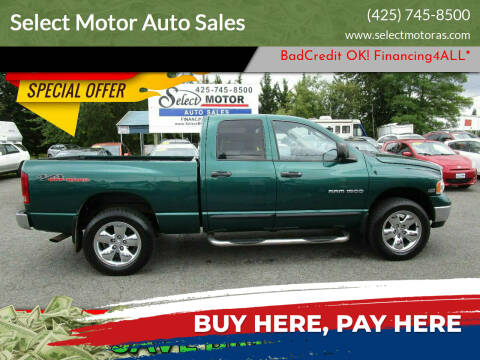 2004 Dodge Ram Pickup 1500 for sale at Select Motor Auto Sales in Lynnwood WA