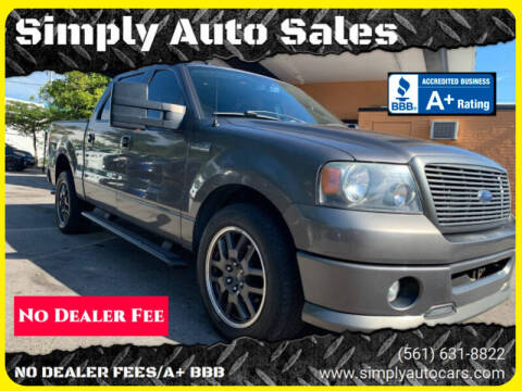 2008 Ford F-150 for sale at Simply Auto Sales in Palm Beach Gardens FL