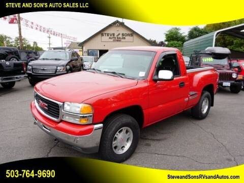 2002 GMC Sierra 1500 for sale at Steve & Sons Auto Sales in Happy Valley OR