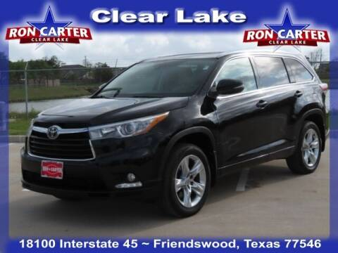 2014 Toyota Highlander for sale at Ron Carter  Clear Lake Used Cars in Houston TX