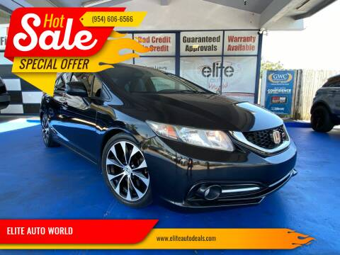 2013 Honda Civic for sale at ELITE AUTO WORLD in Fort Lauderdale FL