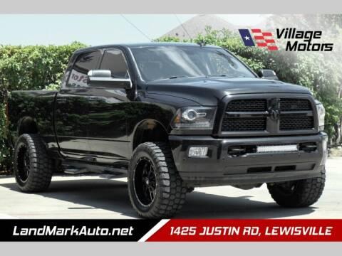 2016 RAM Ram Pickup 2500 for sale at Village Motors in Lewisville TX