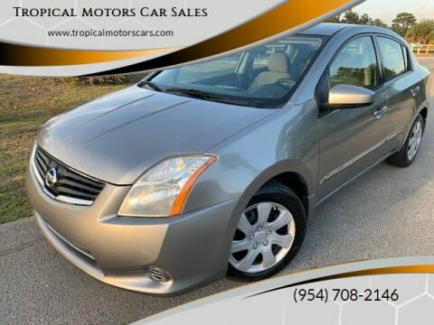 2010 Nissan Sentra for sale at Tropical Motors Car Sales in Deerfield Beach FL