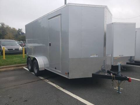 2021 7x14  Deluxe Enclosed Trailer for sale at Big Daddy's Trailer Sales in Winston Salem NC