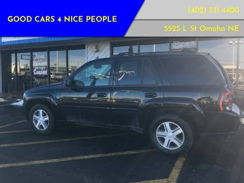 2006 Chevrolet TrailBlazer for sale at Good Cars 4 Nice People in Omaha NE