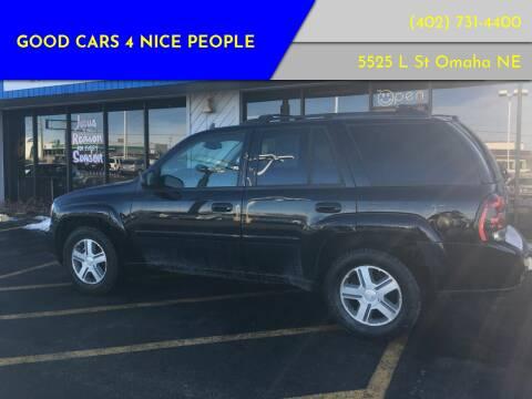 2006 Chevrolet TrailBlazer for sale at Good Cars 4 Nice People in Omaha NE