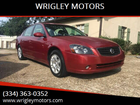 2006 Nissan Altima for sale at WRIGLEY MOTORS in Opelika AL