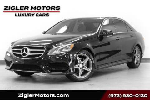 2016 Mercedes-Benz E-Class for sale at Zigler Motors in Addison TX