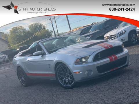 2012 Ford Shelby GT500 for sale at Star Motor Sales in Downers Grove IL