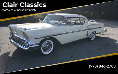 1958 Chevrolet Impala for sale at Clair Classics in Westford MA