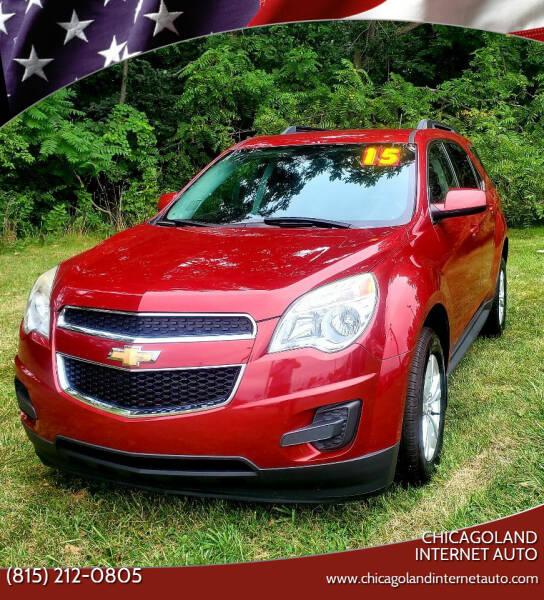 2015 Chevrolet Equinox for sale at Chicagoland Internet Auto - 410 N Vine St New Lenox IL, 60451 in New Lenox IL