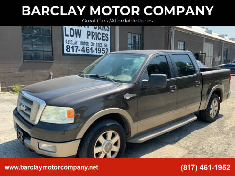 2005 Ford F-150 for sale at BARCLAY MOTOR COMPANY in Arlington TX
