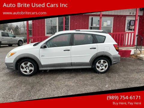 2006 Pontiac Vibe for sale at Auto Brite Used Cars Inc in Saginaw MI
