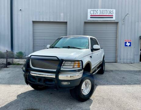 2001 Ford F-150 for sale at CTN MOTORS in Houston TX