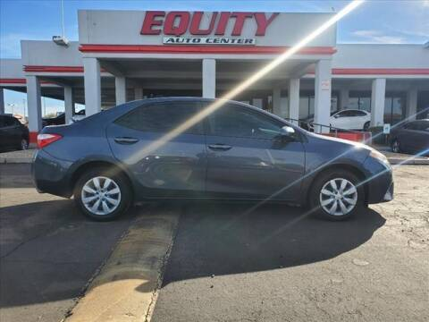 2016 Toyota Corolla for sale at EQUITY AUTO CENTER in Phoenix AZ