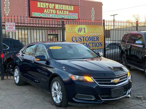 2015 Chevrolet Impala for sale at Best of Michigan Auto Sales in Detroit MI
