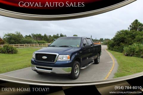 2007 Ford F-150 for sale at Goval Auto Sales in Pompano Beach FL