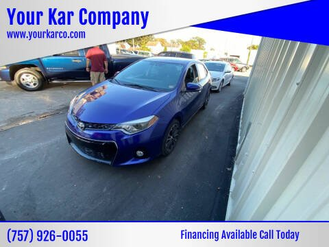 2016 Toyota Corolla for sale at Your Kar Company in Norfolk VA