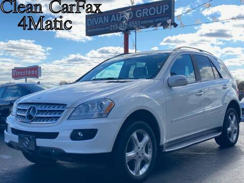 2007 Mercedes-Benz M-Class for sale at Divan Auto Group in Feasterville PA