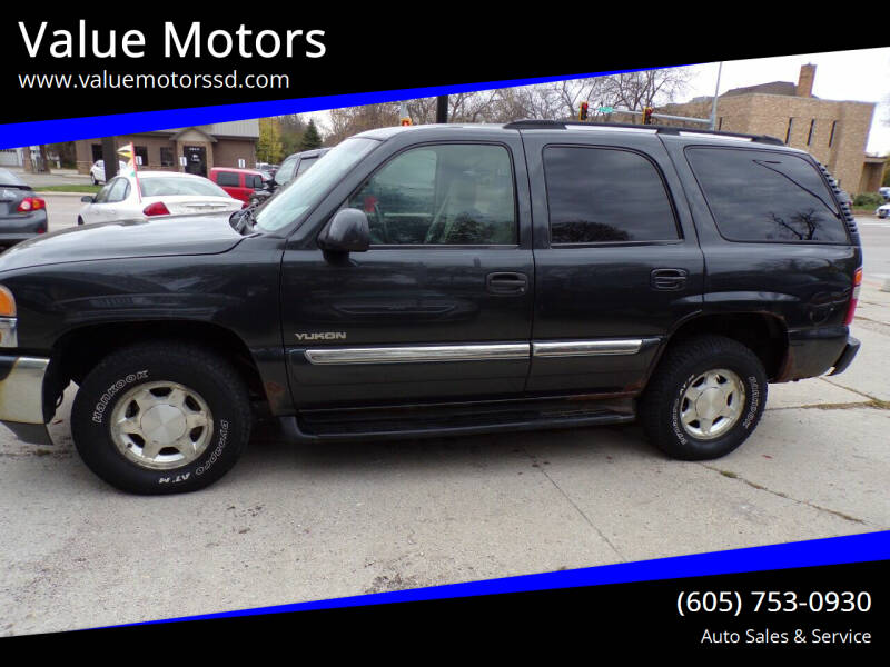 2003 GMC Yukon for sale at Value Motors in Watertown SD