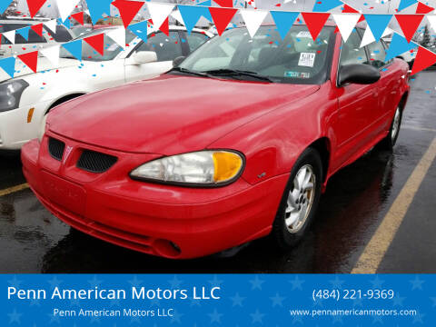 2004 Pontiac Grand Am for sale at Penn American Motors LLC in Allentown PA