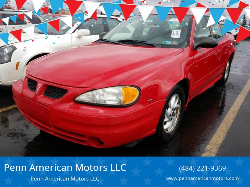 2004 Pontiac Grand Am for sale at Penn American Motors LLC in Allentown PA