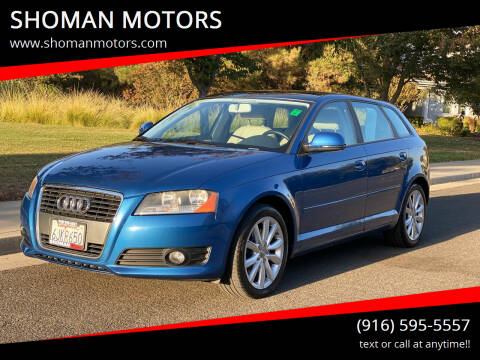 2009 Audi A3 for sale at SHOMAN MOTORS in Davis CA
