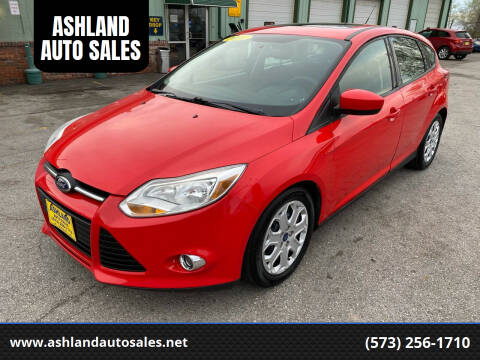 2012 Ford Focus for sale at ASHLAND AUTO SALES in Columbia MO