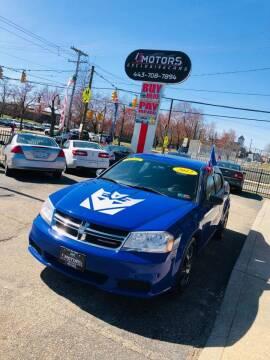 2012 Dodge Avenger for sale at i3Motors in Baltimore MD