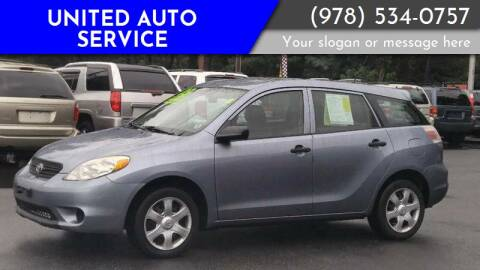 2005 Toyota Matrix for sale at United Auto Service in Leominster MA