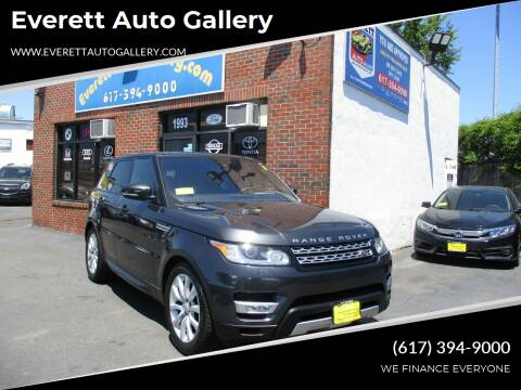 2016 Land Rover Range Rover Sport for sale at Everett Auto Gallery in Everett MA