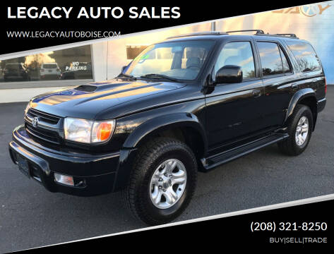 2001 Toyota 4Runner for sale at LEGACY AUTO SALES in Boise ID
